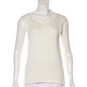 The row Morgan cable knit sleeveless vest Sz S